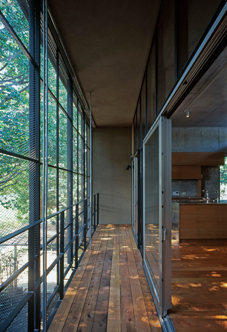 大銀杏の家 モダンデザインの テラス の HAN環境・建築設計事務所 モダン