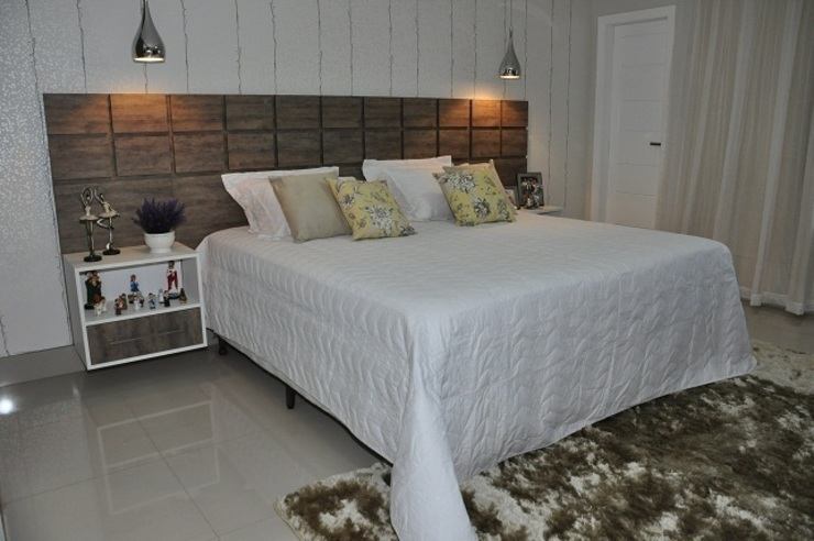 Nowoczesna sypialnia od Lívia Bonfim Designer de Interiores Nowoczesny