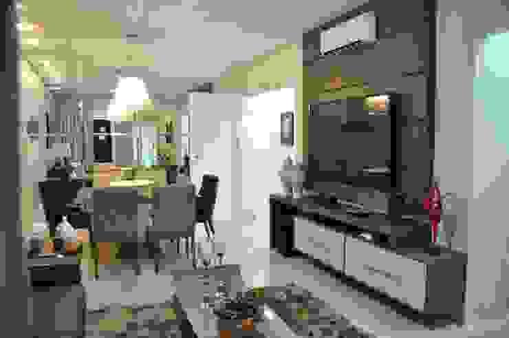 Apartamento Machacalis 2 Salas multimídia modernas por Lívia Bonfim Designer de Interiores Moderno