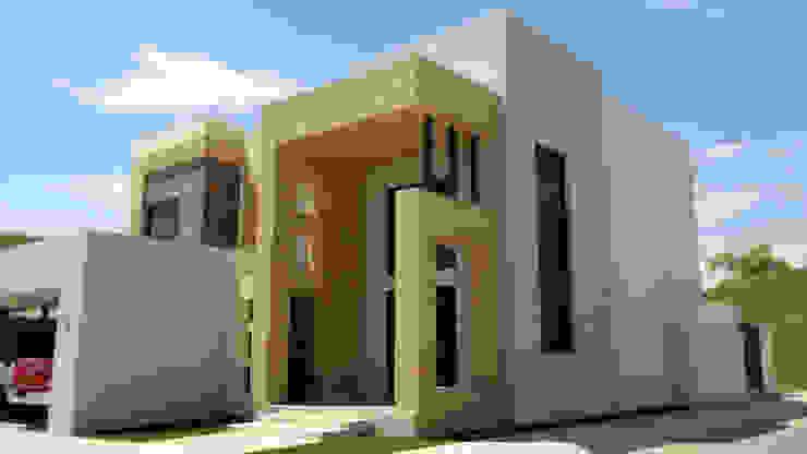 Vista Fachada principal y acceso Casas minimalistas de Acrópolis Arquitectura Minimalista
