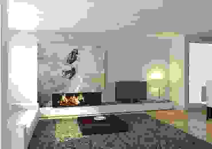 Decoración de chimeneas Barcelona Pintores.es Salones de estilo moderno