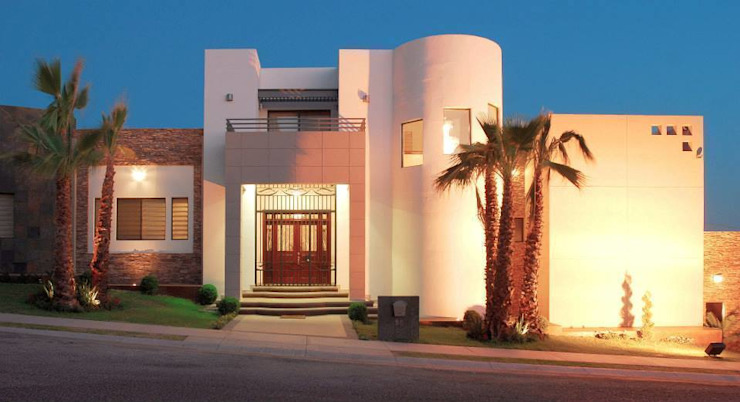 Vista de Acceso principal Casas modernas de Acrópolis Arquitectura Moderno