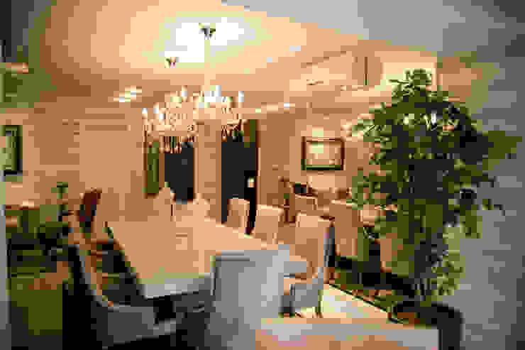 Apartamento Alameda Janeiro 2015 Salas de jantar clássicas por Cas Arquitetos Associados Clássico