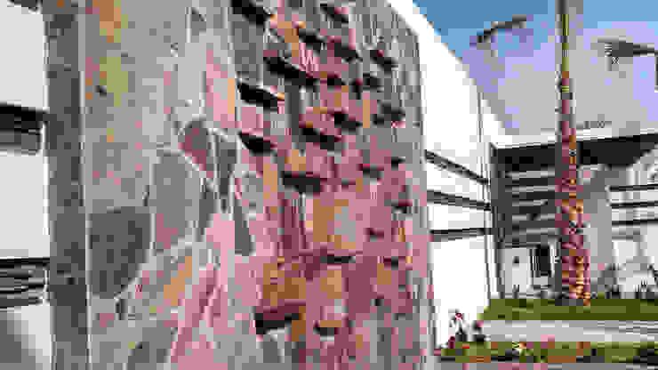 Fuente Muro lloron Jardines modernos de Acrópolis Arquitectura Moderno