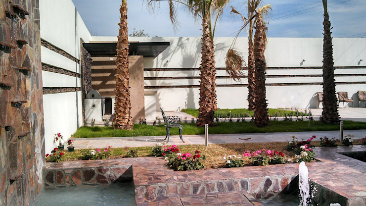 Vista hacia asador Jardines de estilo moderno de Acrópolis Arquitectura Moderno