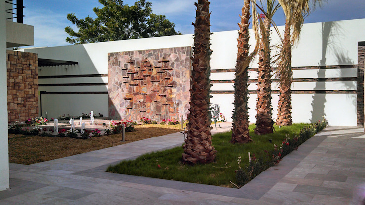 Vista de Fuente Muro lloron Jardines modernos de Acrópolis Arquitectura Moderno