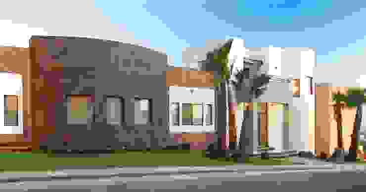 Vista general de Fachada Casas modernas de Acrópolis Arquitectura Moderno