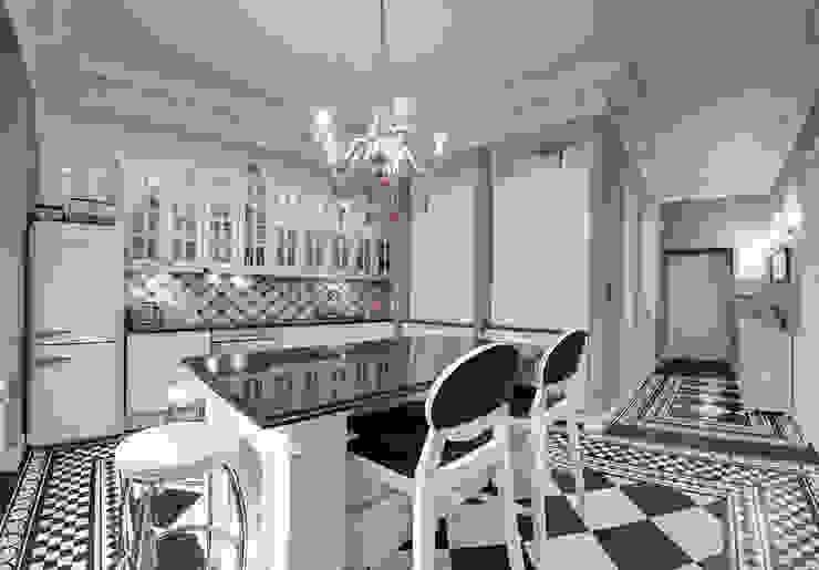 Mieszkanie w renesansowej kamienicy Klasyczna kuchnia od MG Interior Studio Michał Głuszak Klasyczny