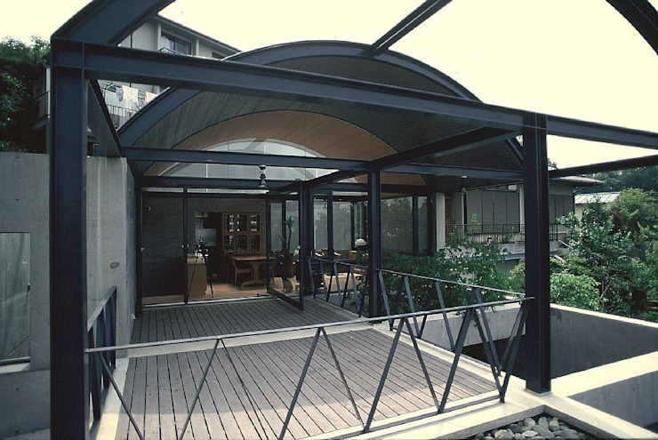 開放テラス オリジナルデザインの テラス の 桑原建築設計室 オリジナル