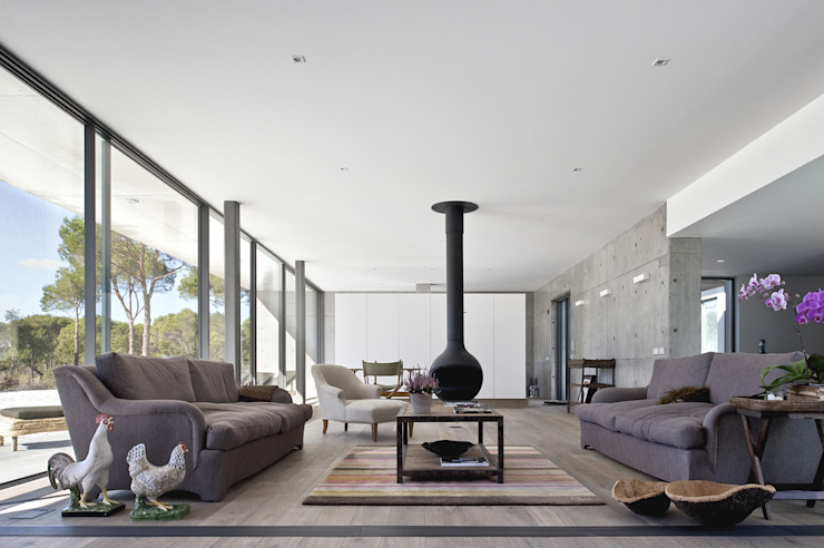 Living room by RRJ Arquitectos, Modern