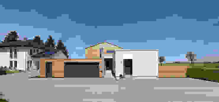 現代房屋設計點子、靈感 & 圖片 根據 Bau-Fritz GmbH & Co. KG 現代風