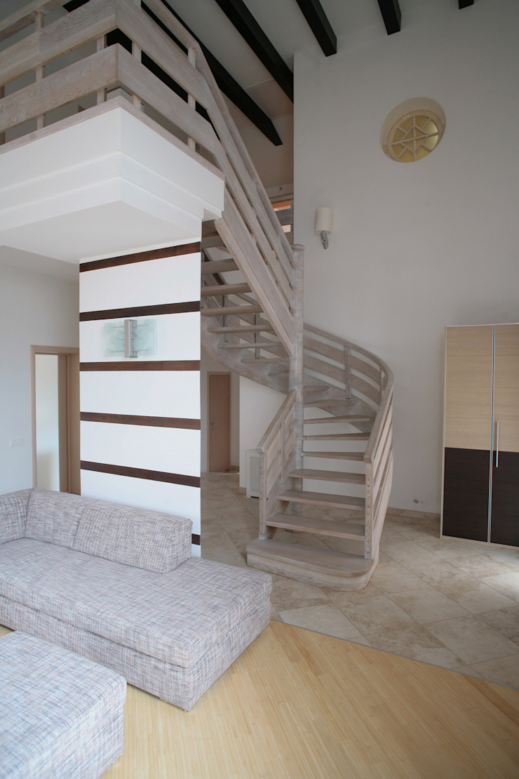 Лестница в прихожей Коридор, прихожая и лестница в стиле минимализм от Inter-Decore Минимализм