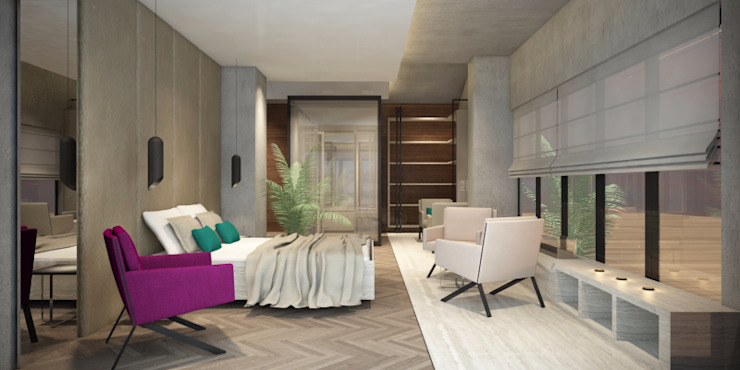 Phòng ngủ phong cách hiện đại bởi Voltaj Tasarım Hiện đại