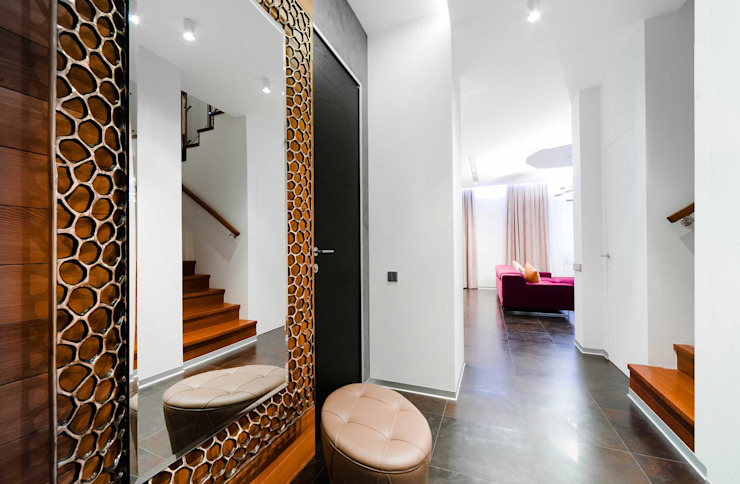 City Oasis – таунхаус в Куркино Nr.1 Коридор, прихожая и лестница в эклектичном стиле от ODS Laboratory Architecture & Design Эклектичный