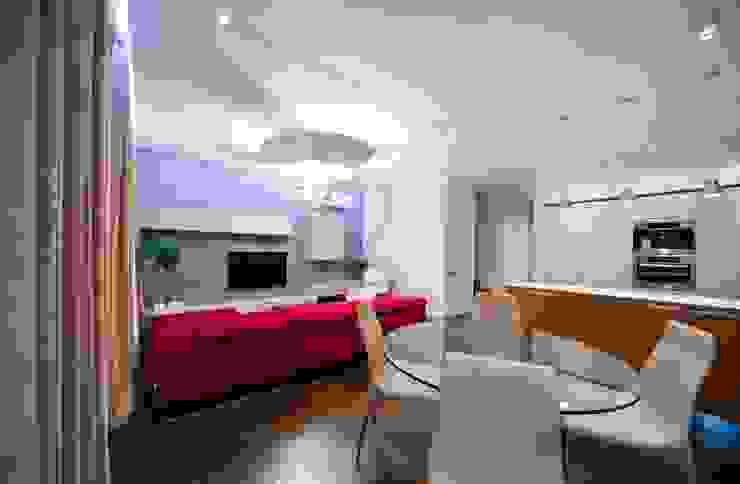City Oasis – таунхаус в Куркино Nr.1 Гостиные в эклектичном стиле от ODS Laboratory Architecture & Design Эклектичный