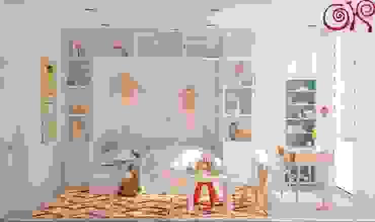 В дизайне современной детской комнаты на фоне светлых оттенков используются яркие акценты Детская комнатa в классическом стиле от Дизайн студия Ольги Кондратовой Классический