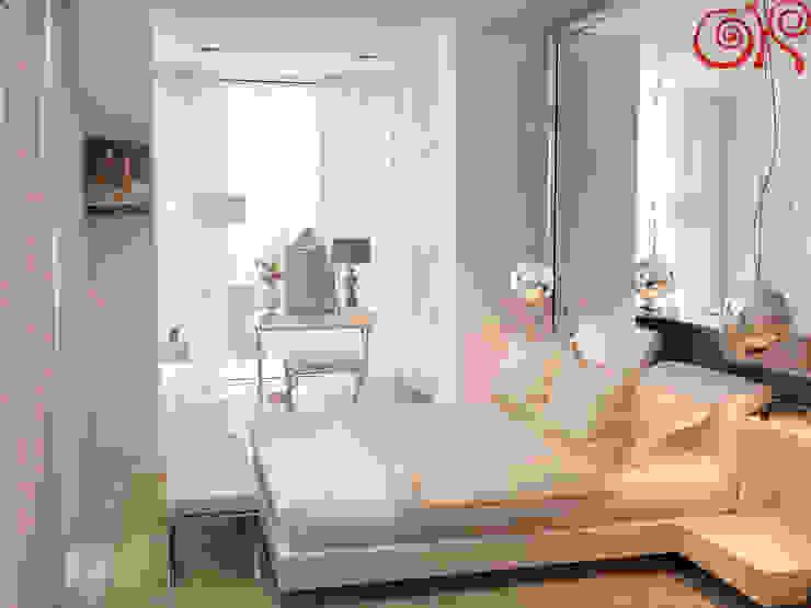 Интерьер светлой спальни с присоединенной лоджией Спальня в классическом стиле от Дизайн студия Ольги Кондратовой Классический