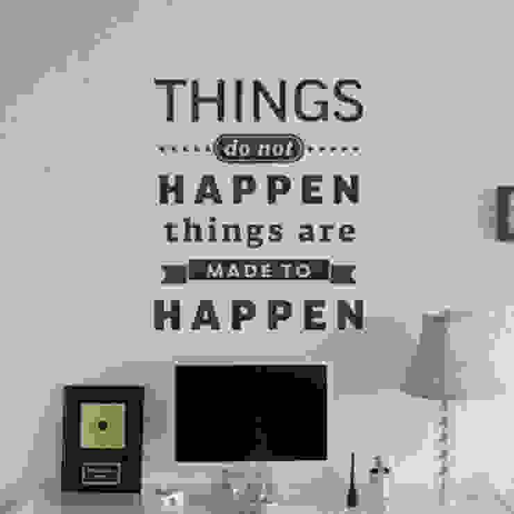 "Цитата на стену ""Things do not happen. Things are made to happen"" от 33dodo Эклектичный"