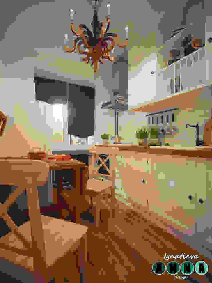 Уютная кухня в обычном панельном многоэтажном доме Кухня в скандинавском стиле от Дизайн-студия Анны Игнатьевой Скандинавский