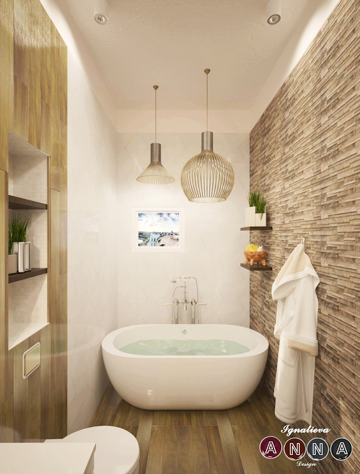 Каменная ванная Спа в стиле минимализм от Дизайн-студия Анны Игнатьевой Минимализм