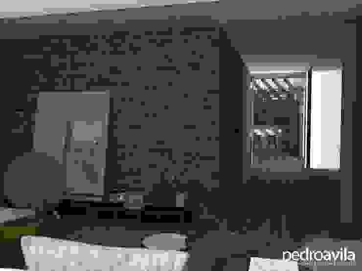 Modern corridor, hallway & stairs by pedroavila.com.mx Modern
