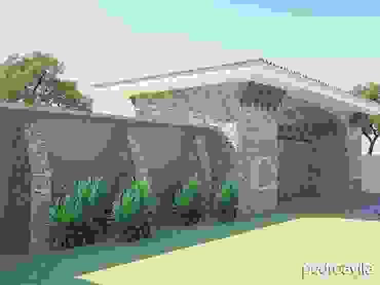 Mediterranean style house by pedroavila.com.mx Mediterranean