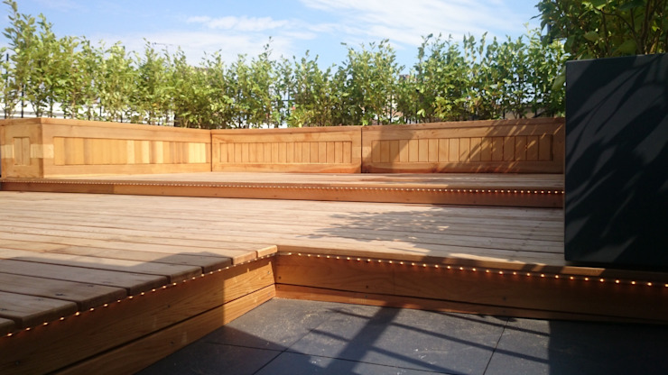 East London roof terrace Modern balcony, veranda & terrace by Paul Newman Landscapes Modern