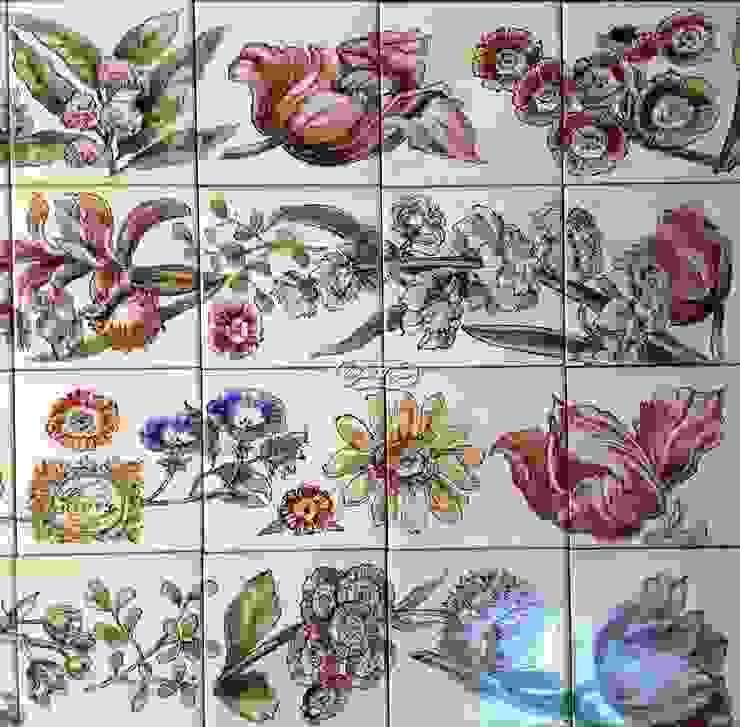 Декорирование ванны ботаническими гравюрами от Мастерская росписи по фарфору и керамической плитке АртФлёра Рустикальный