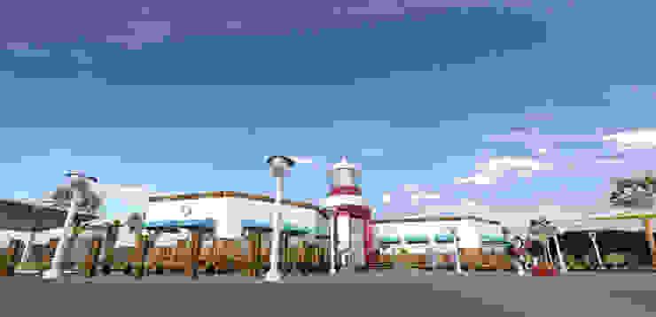 Faro y muelles Bares y clubs de estilo tropical de Acrópolis Arquitectura Tropical