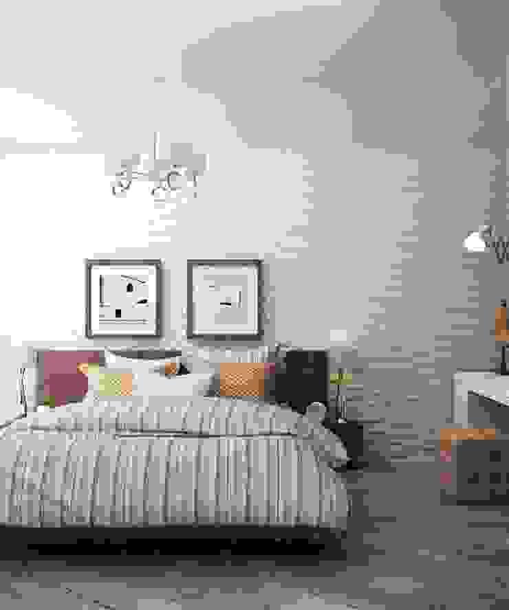 Дизайн в современном стиле 3к.кв Спальня в классическом стиле от MoRo Классический