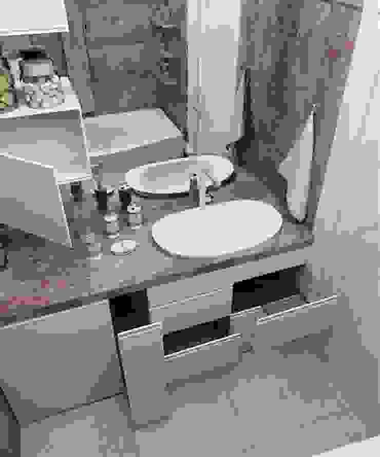 Дизайн в современном стиле 3к.кв Ванная в классическом стиле от MoRo Классический