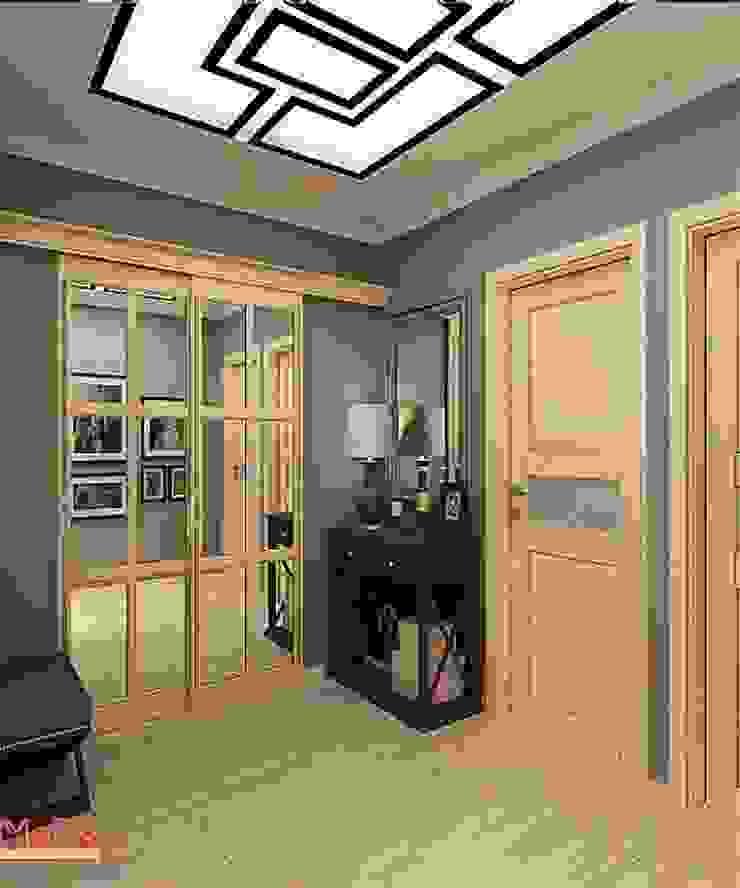 Дизайн проект 2к.кв. в смешанном Американском стиле Коридор, прихожая и лестница в классическом стиле от MoRo Классический