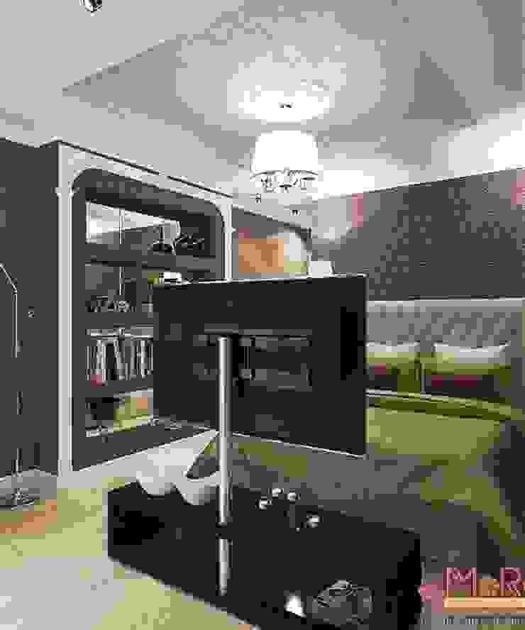 Дизайн проект 2к.кв. в смешанном Американском стиле Спальня в классическом стиле от MoRo Классический