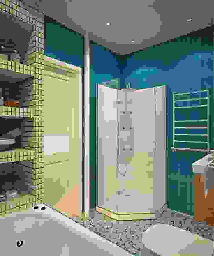Дизайн проект 2к.кв. в смешанном Американском стиле Ванная в классическом стиле от MoRo Классический