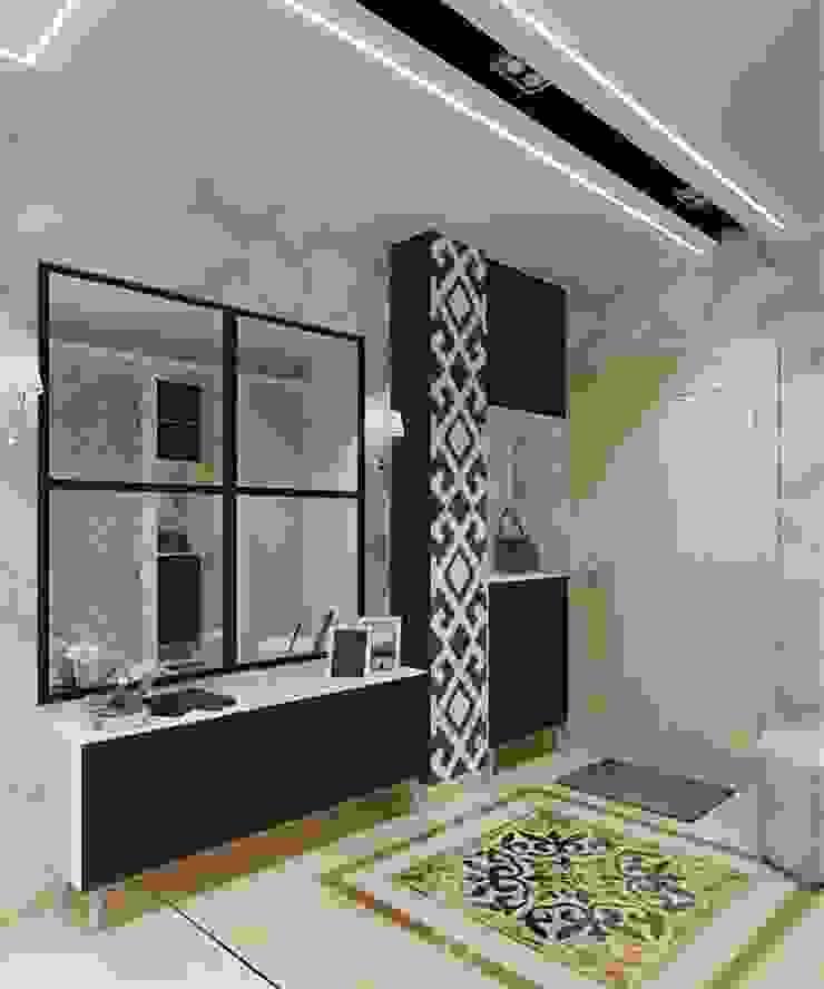 Дизайн проект квартиры в Коломягах Коридор, прихожая и лестница в классическом стиле от MoRo Классический
