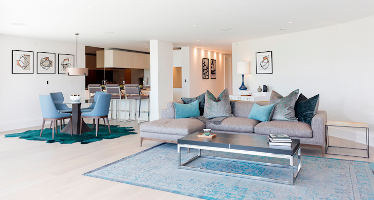 Waterside Apartment by WN Interiors Modern living room by WN Interiors Modern