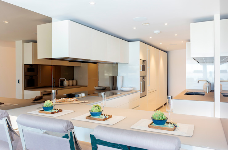 Waterside Apartment by WN Interiors Modern kitchen by WN Interiors Modern