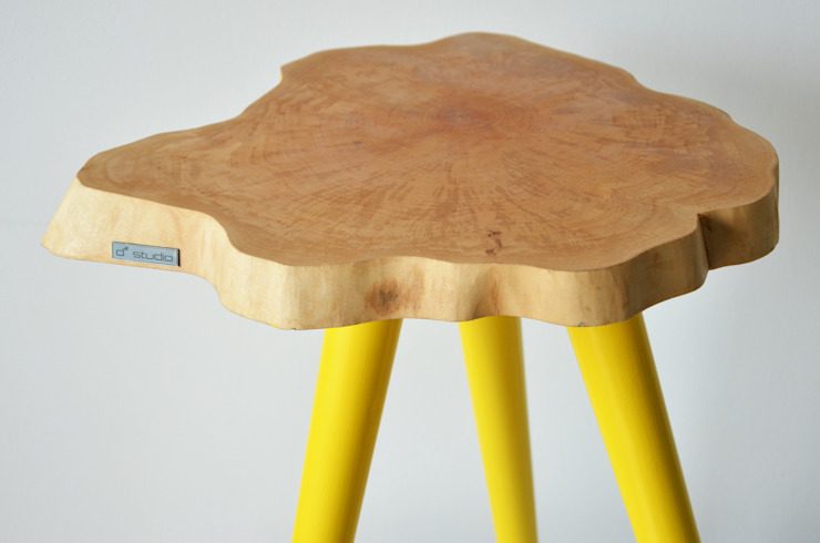Stołki / Stoliki STILL WOOD -Yellow, Black, Mint: styl , w kategorii  zaprojektowany przez D2 Studio,Skandynawski