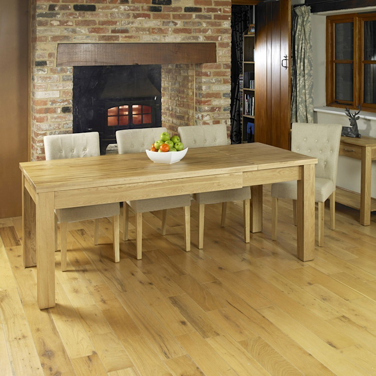 Bonsoni Extending Oak Dining Table (Seats 4-8. Chairs not included) homify Endüstriyel