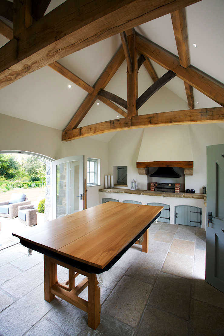 Le Pres de Bas CCD Architects Rustic style kitchen