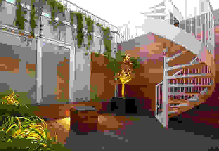 Patio dakterras Scandinavische balkons, veranda's en terrassen van PAA Pattynama Ahaus Architectuur Scandinavisch