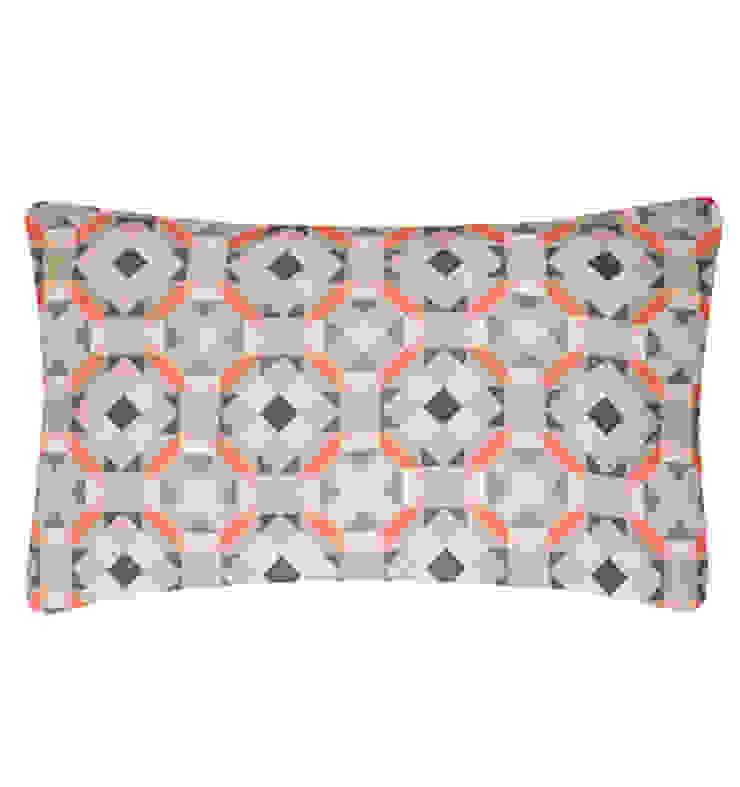 Rubik Silk Cushion in Celadon, 30x50cm Nitin Goyal London BedroomTextiles