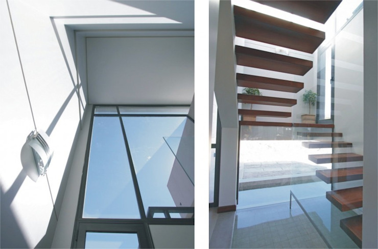 Proyecto D1 Pasillos, vestíbulos y escaleras modernos de CLEMENT-RICO I Arquitectos Moderno