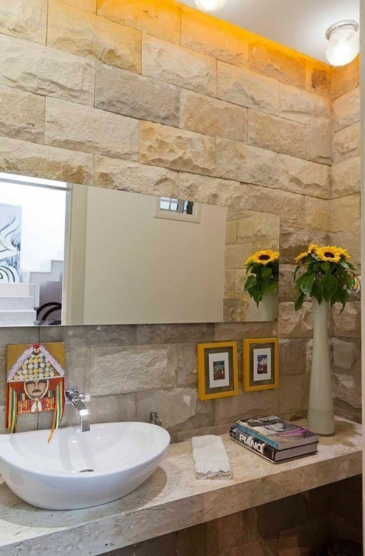 Casa AP+VP Banheiros modernos por ANDRÉ PACHECO ARQUITETURA Moderno