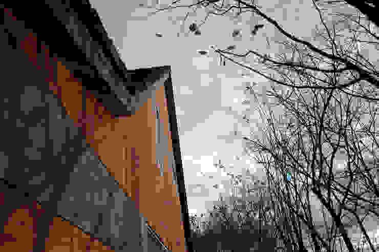 Linker zijgevel (na): modern  door NarrativA architecten, Modern
