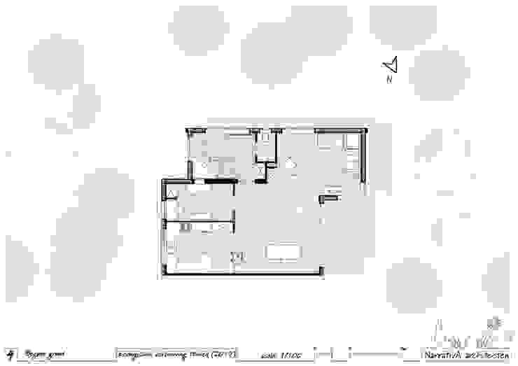Plattegrond - begane grond (na): modern  door NarrativA architecten, Modern