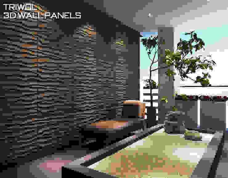 Group Enerji Yapı Dekorasyon – TRIWOL BEACH 3D DUVAR PANELİ:  tarz Duvar & Zemin,