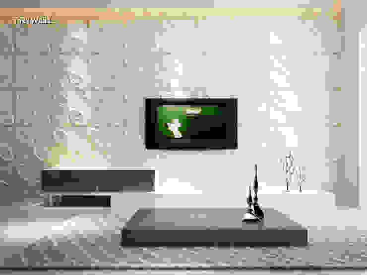 Group Enerji Yapı Dekorasyon – TRIWOL CURLUP 3D DUVAR PANELİ:  tarz Duvarlar,
