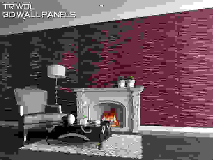 Group Enerji Yapı Dekorasyon – TRIWOL INREDA 3D DUVAR PANELİ:  tarz Duvarlar,
