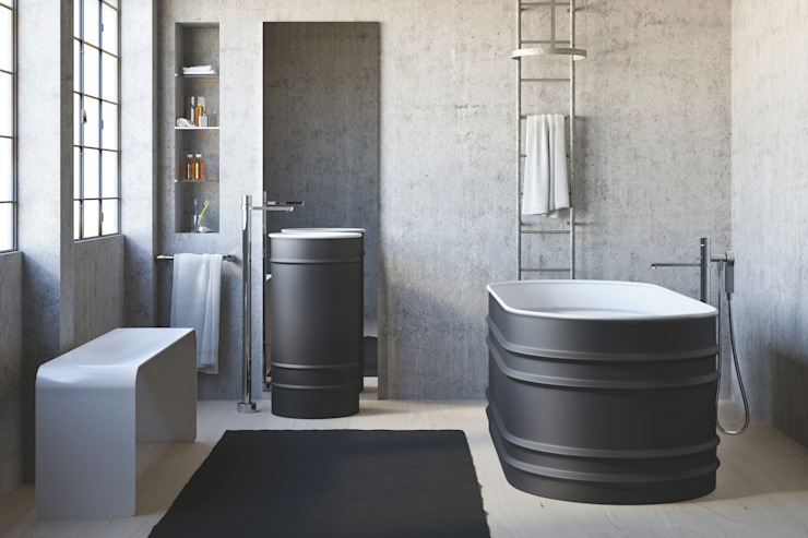 Industrial style bathrooms by Mamoli Rubinetteria Industrial